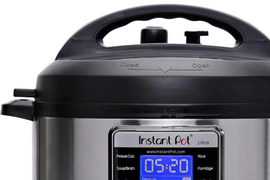 Close up of a 6 Quart Ultra to compares the differences between the Instant Pot Lux vs Ultra
