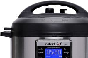 Close up of a 6 Quart Ultra to compares the differences between the Instant Pot Viva vs Ultra