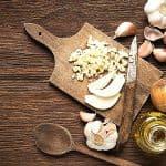 Chopped onion and garlic to prepare to use Instant Pot 3 qt mini accessories for a recipe